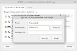 Ajout d'une application au démarrage dans Linux Mint MATE