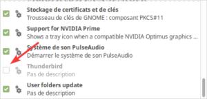 Application au démarrage de Linux Mint MATE désactivée