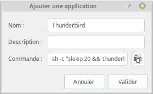 Application au démarrage de Linux Mint XFCE avec délai