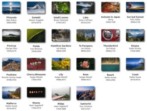 Fonds d'écran inclus dans Linux Mint 19.1