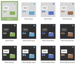 Couleur thème MINT-Y dans Linux Mint 19.1
