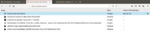 Gestionnaire des tâches dans Firefox 64