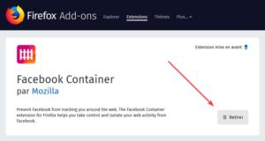 Suppression d'une extension depuis le site Add-ons de Mozilla