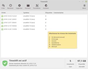 Timeshift Linux Mint 19