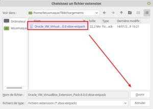 Choisir un fichier extension