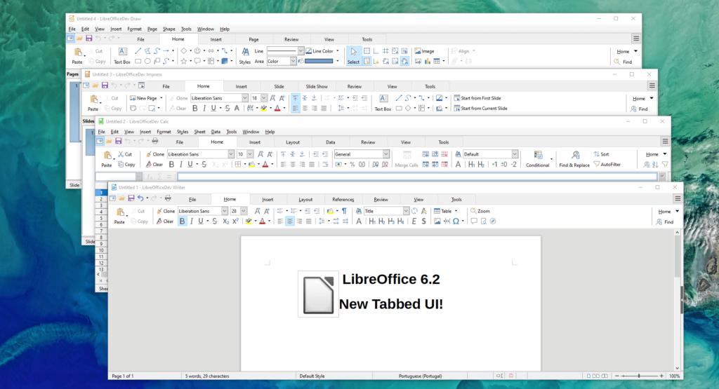 LibreOffice 6.2 - Méta-barre Onglet