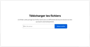 Récupération fichier Firefox Send