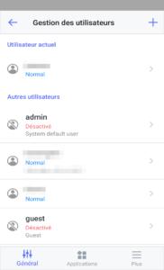 DS finder - Gestion utilisateurs Synology