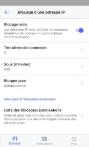 DS finder Option blocage IP