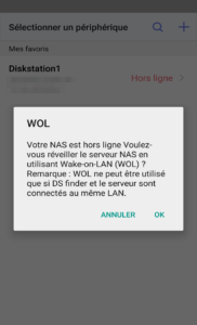 DS finder - Réveiller son NAS
