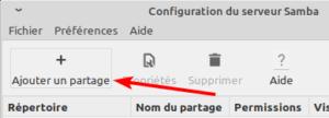 Ajouter un partage réseau dans Linux Mint MATE ou XFCE