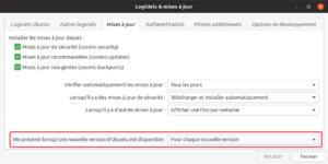 logiciels et mises a jour - canal de mises à jour dans Ubuntu 18.10