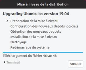 Mise à niveau vers Ubuntu 19.04 - Préparation
