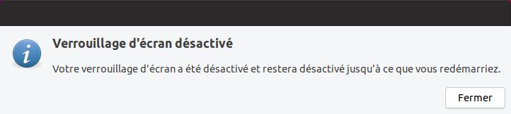 Mise à niveau vers Ubuntu 19.04 - Désactivation écran de veille