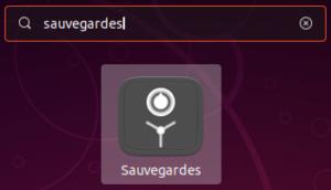 Outil Sauvegardes dans Ubuntu 18.10