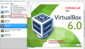 Connaitre la version de virtualbox