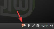 Icône Redshift dans tableau de bord Linux Mint 18.x