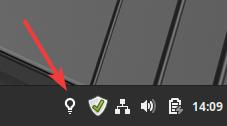 Icône Redshift dans tableau de bord Linux Mint 19.x