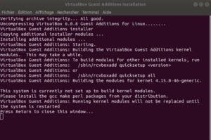 Installation CD additions invité sous linux