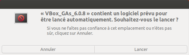 Exécuter automatiquement cd additions invité virtualbox dans Ubuntu