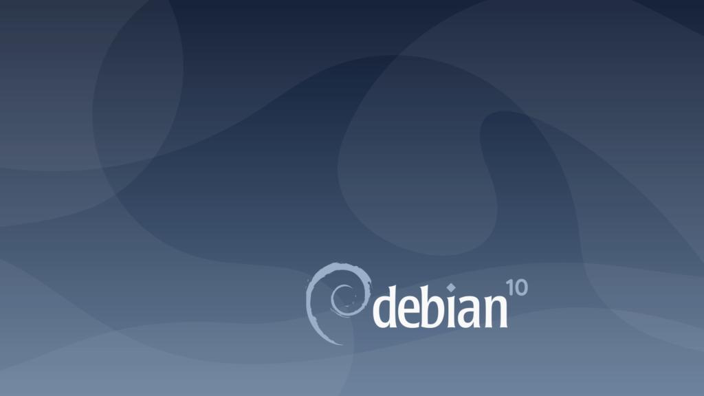 fond écran login Debian 10