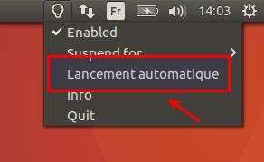 Lancement auto de Redshift dans Ubuntu 16.04