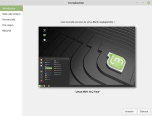 Introduction pour Mettre à jour vers Linux Mint 19.2