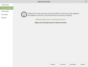 Notes de version de Linux Mint 19.2