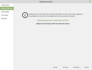 Notes de version de Linux Mint 19.2