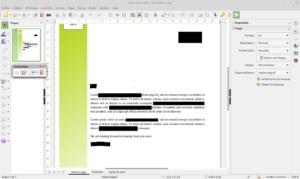 document PDF caviardé