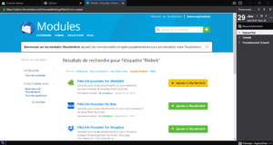 Extensions pour Filelink