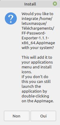 Integration FF Password Exporter