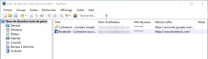 Mots de passe de Google Chrome importés dans Keepass avec KeepassBrowserImporter