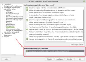 Option pour compatibilité avec formulaires MS