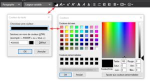 Palette de couleur Thunderbird 68 sous Windows