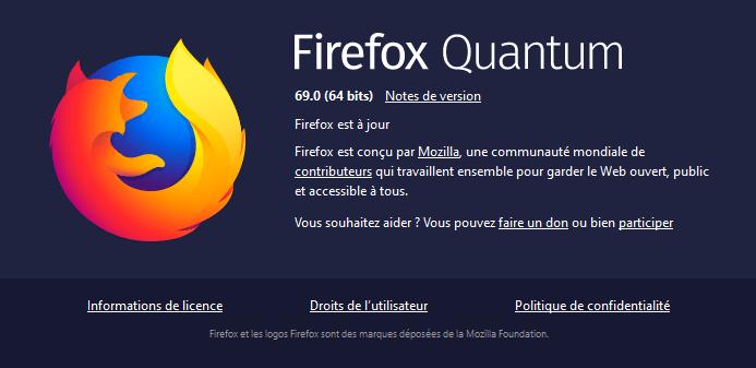 Firefox 69 - à propos