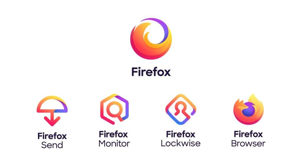 Logos famille Firefox