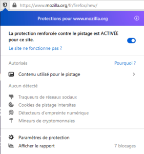 Informations protections