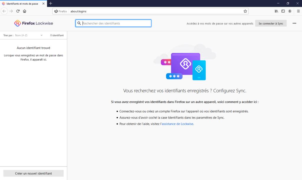 Firefox Lockwise dans Firefox