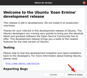 Mettre à jour vers Ubuntu 19.10 - Notes de version