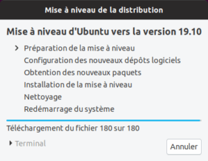 Préparation mise à niveau vers Ubuntu 19.10