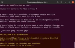 Mettre à niveau vers Ubuntu 19.10 en ligne de commande - Désactivation verrouillage d'écran