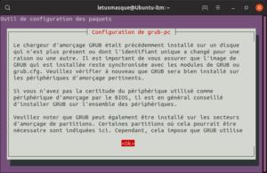 Mettre à niveau vers Ubuntu 19.10 en ligne de commande - Reconfiguration GRUB