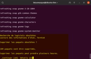 Mettre à niveau vers Ubuntu 19.10 en ligne de commande - Suppression paquets obsolètes