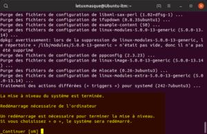 Mettre à niveau vers Ubuntu 19.10 en ligne de commande - Redémarrage finale