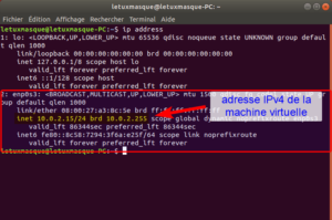 ip address Linux