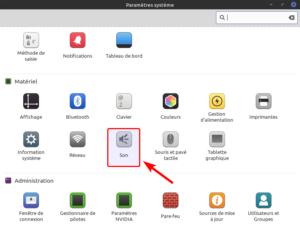 Linux Mint - Paramètres système - Son