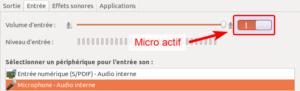Ubuntu - Micro actif