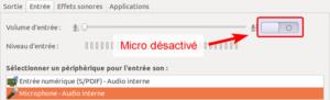 Ubuntu - Micro désactivé