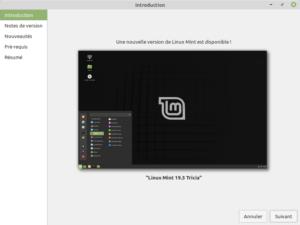 1 - Mise à jour vers Linux Mint 19.3 - Bienvenue